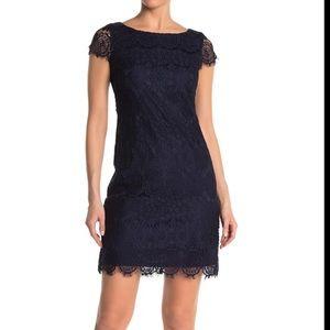NWT Eliza J Scalloped Lace Cap Sleeve Dress